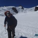 Bret walking down Blue Glacier