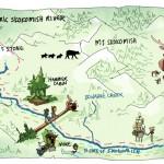 Per Berg Map North Fork Skokomish River CLICK TO ENLARGE
