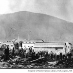 Snow Creek Logging Company camp - North Olympic Library photo