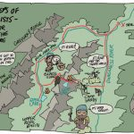 Map - In the Footsteps of Early Geologists by Sequim artist Per Berg