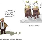 Roosevelt saves the Olympic Elk by Sequim Artist Per Berg